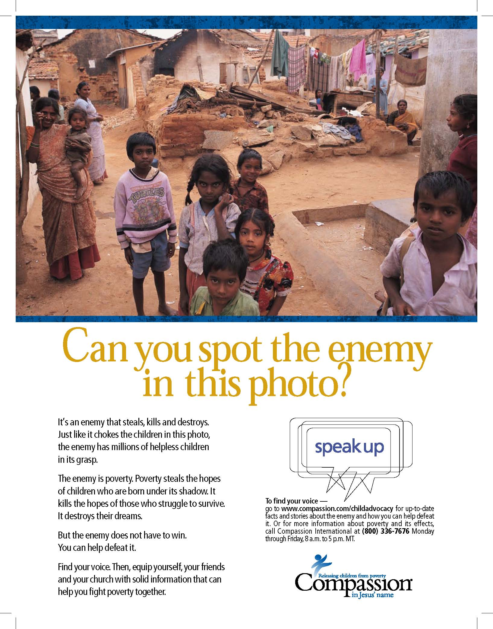 Ad for Compassion International